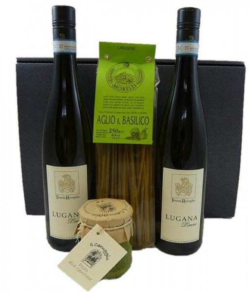 Geschenkset Lugana Limne mit Pasta und Pesto Genovese