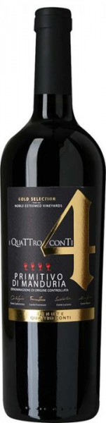 Conti Zecca Quattro Conti Primitivo di Manduria Gold DOC 2017