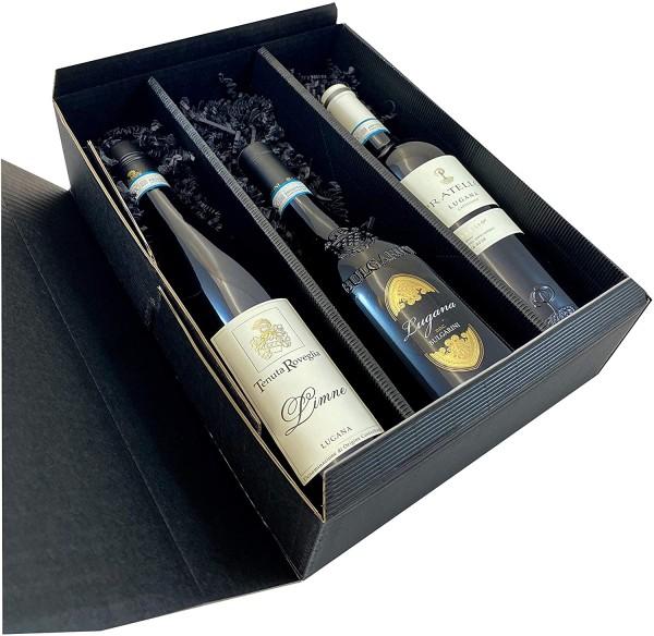 Geschenkset Lugana | 3 hochwertige Lugana in Geschenkverpackung | 3 x 0,75l | Weißwein aus Venetien